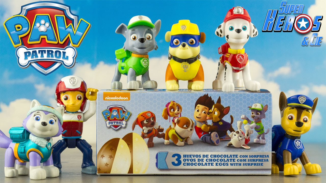 pat patrouille boite de 3 oeufs surprise chocolat paw patrol fran ais 4k jouet toy unboxing. Black Bedroom Furniture Sets. Home Design Ideas