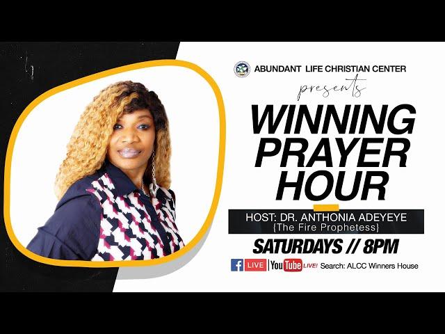 Winning Prayer Hour | Dr. Anthonia Adeyeye | ALCC Winners House
