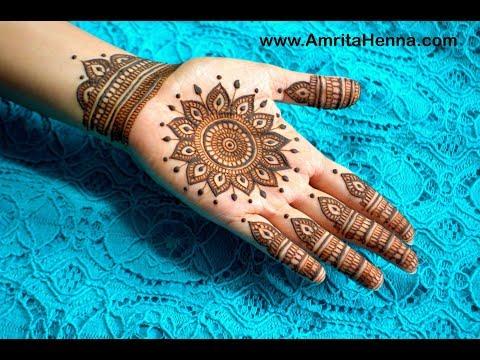 UNIQUE FULL HAND MANDALA HENNA DESIGN | TRADITIONAL INDIAN MANDALA MEHNDI DESIGN BY AMRITAHENNA