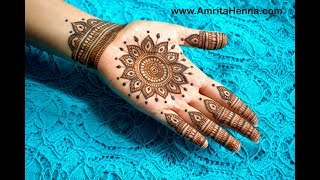 UNIQUE FULL HAND MANDALA HENNA DESIGN | TRADITIONAL INDIAN MANDALA MEHNDI DESIGN BY AMRITAHENNA