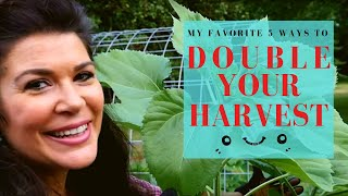 The Top 5 Ways to Double your Garden's Harvest