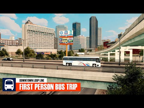 [4K] First Person Downtown Loop Bus Ride in Cities: Skylines (very realistic) |