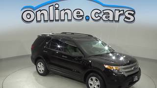 R99950NC Used 2012 Ford Explorer Base FWD 4D Sport Utility Black Test Drive, Review, For Sale