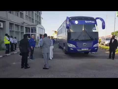 Everton wakiwasili Tanzania
