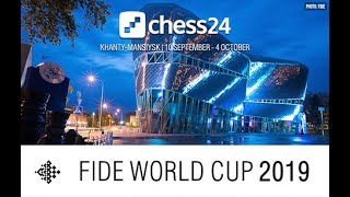 FIDE Chess World Cup 2019 Round 3 - Game 2 - LIVE