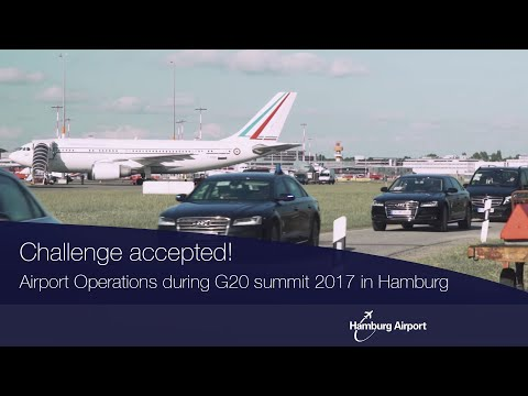 Airport Operations during G20 summit 2017 in Hamburg