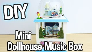 DIY Miniature Dollhouse Music Box Kit that Spins and has Working Lights! Cute!/ Relaxing Craft