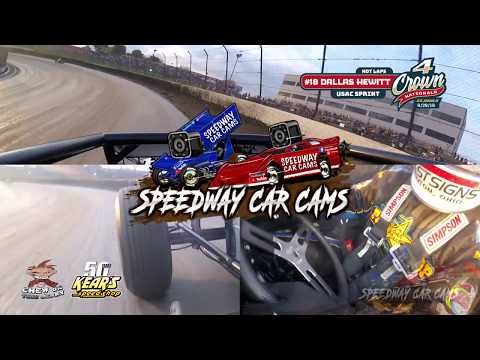 #18 Dallas Hewitt - Multi Cam Non-Wing Sprint - Hot laps at Eldora Speedway #4Crown 9-28-19