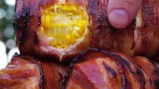 Bacon wrapped corn: a unique way of serving corn on the cob that's going to impress everyone!