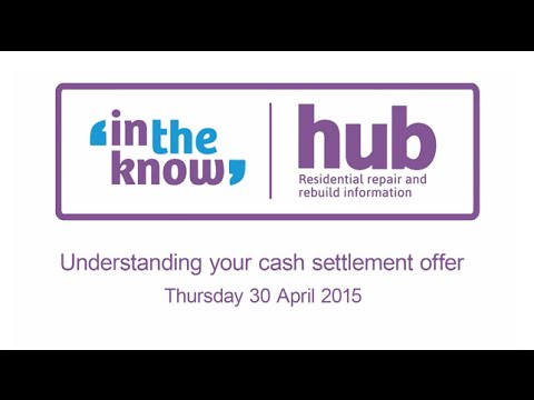 Understanding your cash settlement offer seminar - 30 April 2015