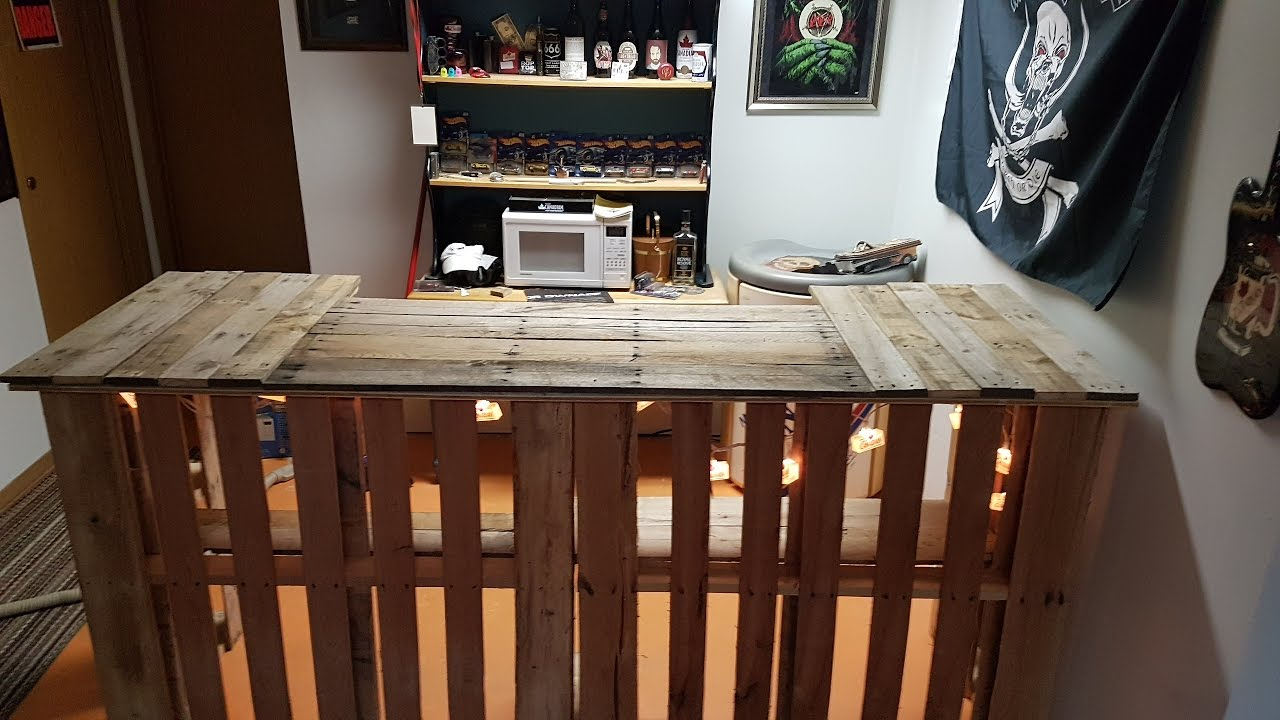 How to build a Pallet Bar for FREE  YouTube