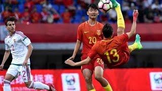 Irfan(Ye Erfan) Impossible Bicycle Kick Goal!China U19 vs Hungary U19