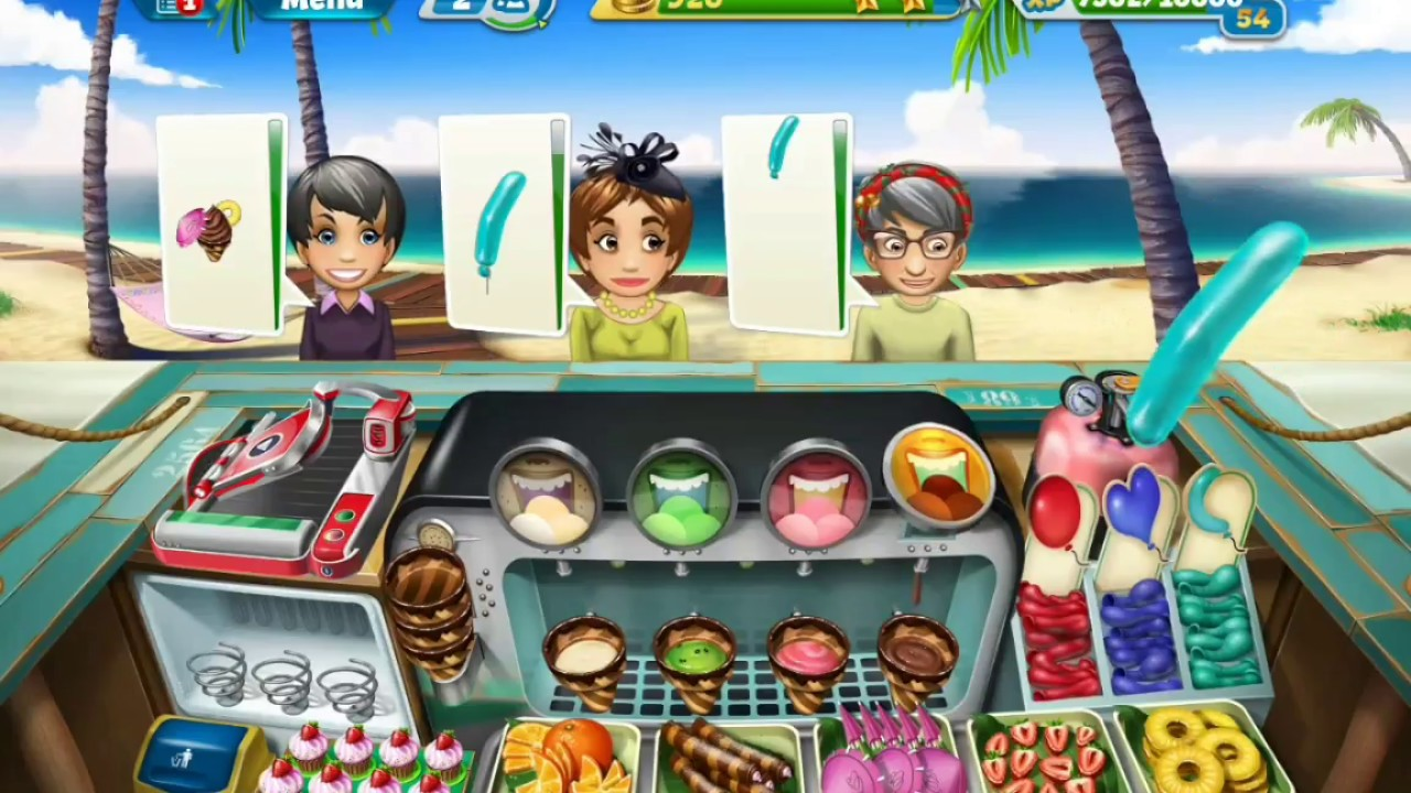 Cooking Fever Ice Cream Bar Level 27 Best Cooking Game Of All Time Youtube
