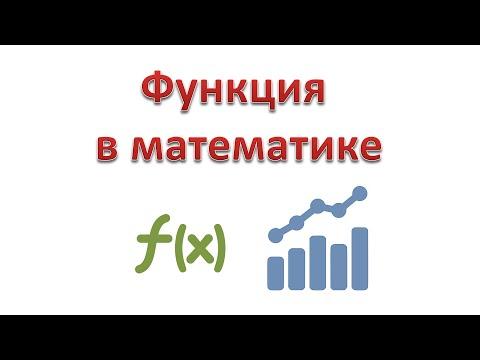 Как обозначается функция в алгебре
