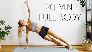20 MIN FULL BODY WORKOUT (At Home & Equipment Free)