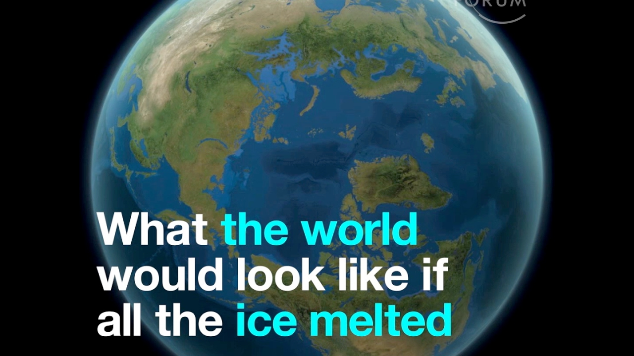 When The Polar Ice Caps Melt The Oceans Will Rise Over Ftm - Map reveals what the earth would look like if all the polar ice melted 2