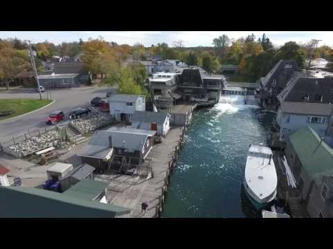 UAV/Drone Fly Over Of Beautiful Historic Fishtown In Leland, Michigan - Must See Town!