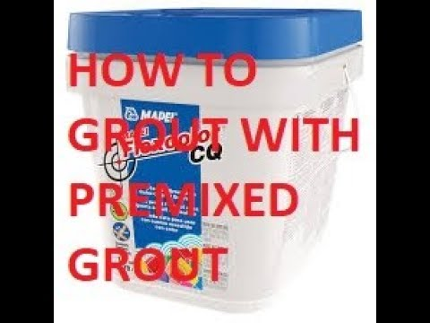 how to use premixed grout flexcolor cq