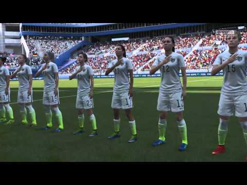 FIFA 16 - USA vs Germany Women's Match Entrance Introduction - PS4
