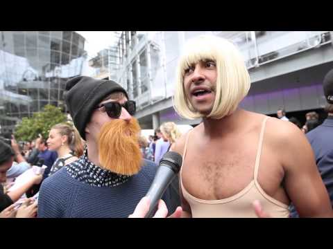 Chet Faker* & Sia* Interview On The ARIA Red Carpet 2014