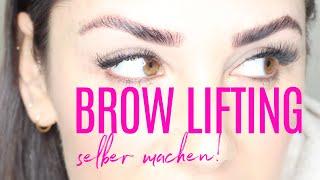NEUER TREND: BROW LIFTING / BROW LAMINATION | ICH HABS GETESTET! || KathisFinest
