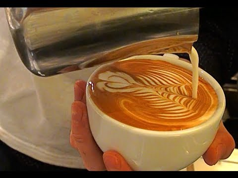 Latte Art Video - Diamond Fuji