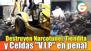 Destruyen Narcotúnel, Tiendita y Celdas