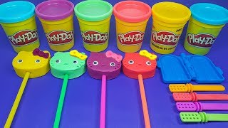4 Hello Kitty Play Doh Making Ice Cream For Kids | Surprise Toys Kinder Joy Surprise Egss