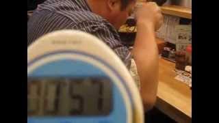 広瀬 昌司 1分55秒 (広瀬興業(株) 早食い メガ盛り 1キロカレー(カ...