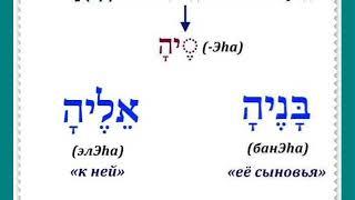 Урок № 22.  Местоименные суффиксы множества объектов