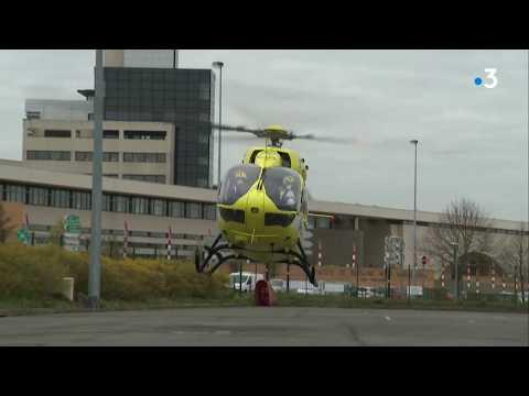 Coronavirus : Dix Patients En Réanimation Transférés Par Hélicoptère D'Amiens Au CHU De Lille