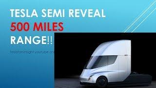 Tesla semi truck event, range, video, 2019 intro. 2170 battery a beast