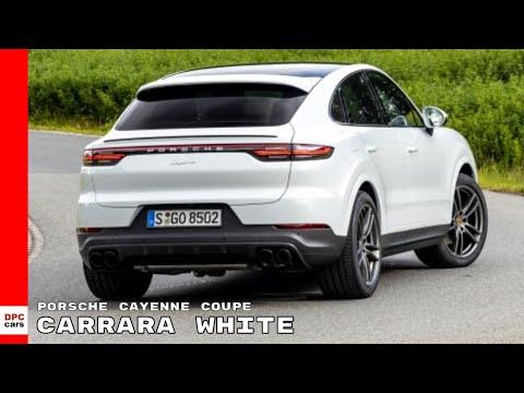 2020 Porsche Cayenne Coupe Carrara White Metallic Youtube