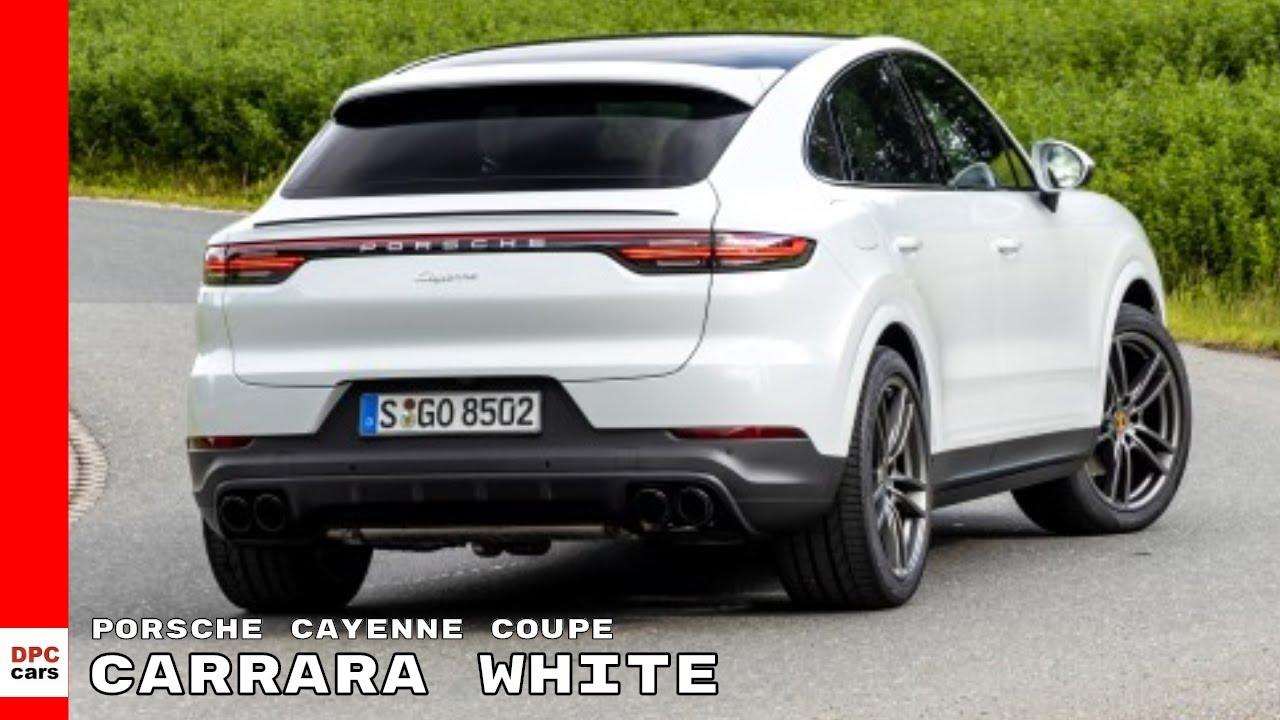 2020 Porsche Cayenne Coupe Carrara White Metallic