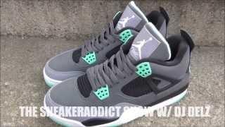 Air Jordan Green Glow 4 IV Shoe Review + On Feet W/ @DjDelz Dj Delz The Sneaker Addict