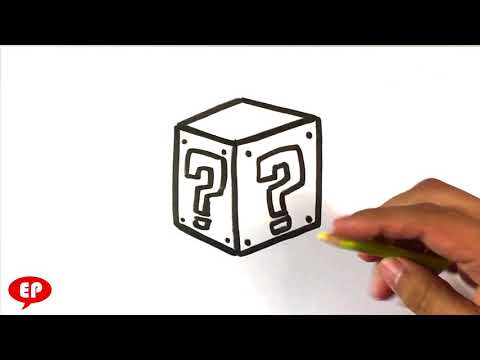 How to Draw Mario Question Box - Easy Pictures to Draw