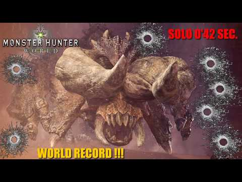 Monster Hunter: World / WORLD RECORD / Diablos SOLO (GATLING)  0'42 Sec! -En Español HD 1080p thumbnail