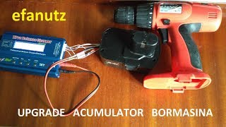 reparatie / modificare  acumulator bormasina  - charging  drill  battery with imax b6 - part 2