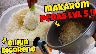 You must try!! Indonesia street food lv.3 spicy makaroni virals