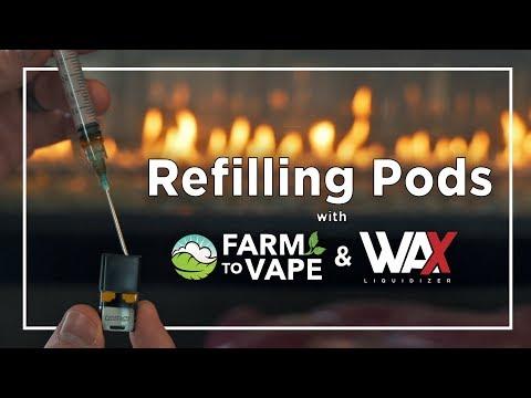 Refilling PAX + STIIIZY Pods - Farm To Vape + Wax Liquidizer