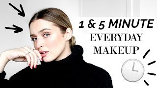 ⏱ 1 & 5 MINUTE EVERYDAY MAKEUP LOOKS ⏱ | allanaramaa