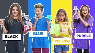 Download Last to STOP Eating Their COLOR Food WINS $10,000 Challenge *BAD IDEA* 🖤💙💛💜| Piper Rockelle Mp3 and Videos