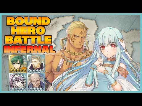 [F2P Ft. Brave Lyn] INFERNAL Hawkeye and Ninian Bound Hero Battle - Fire Emblem Heroes