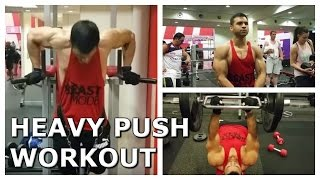 Heavy Push Workout - Weighted Dips