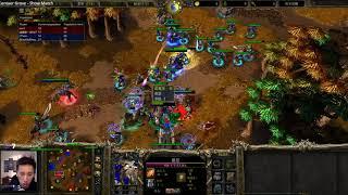 Lyn (Orc) 120 (UD) vs Lawliet (NE) Soin (Orc) - WarCraft 3 - 2v2  - WC2548