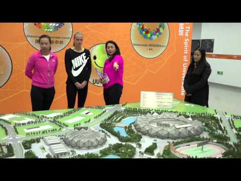 Shenzhen Open 2015 - Kvitova & Peng Visited Center Stadium of Universiade