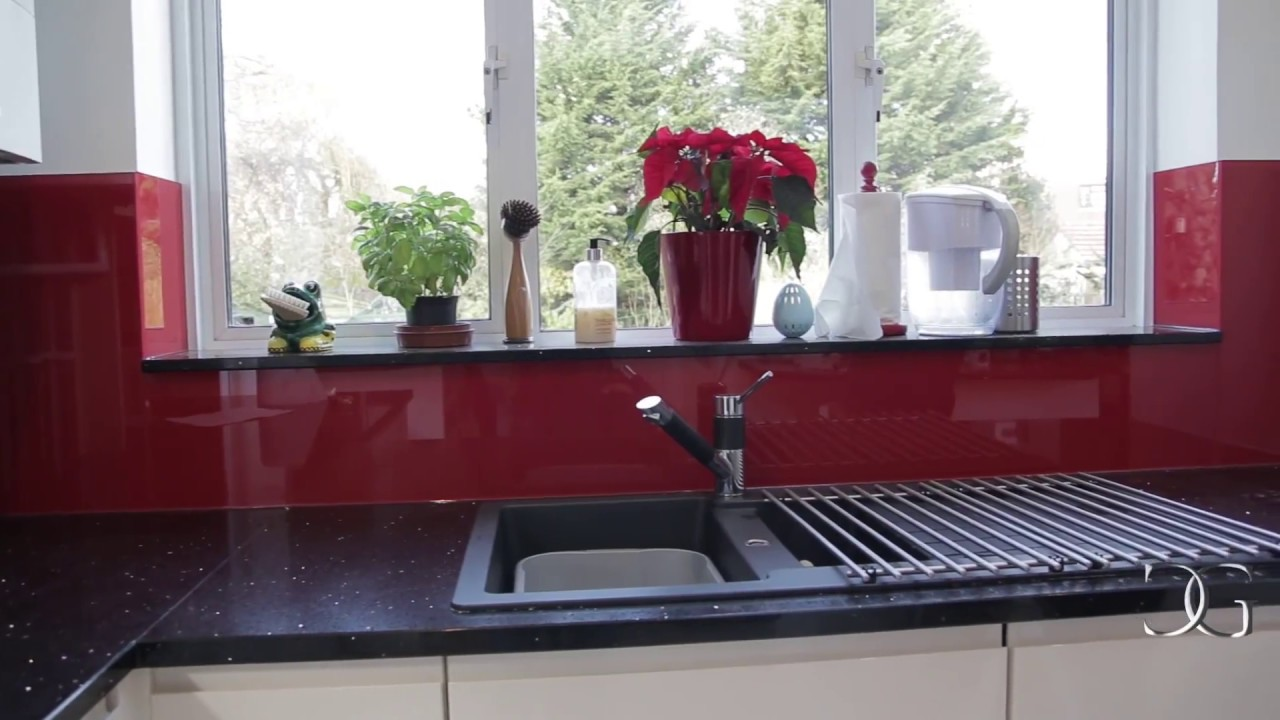 Quot Signal Red Quot Installation Of Glass Kitchen Splashback