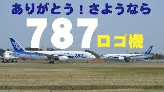 """【成田空港】ありがとう""""787""""ロゴ!成田で最後の活躍を続けた全日空のボーイング787-8ロゴ入り機を追った!"""