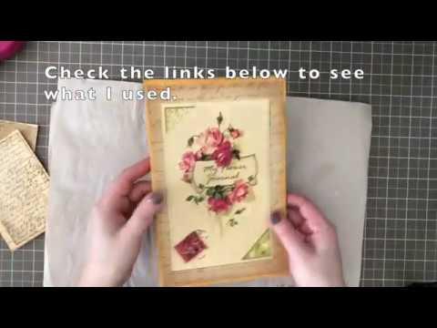 Beginner Junk Journal Tutorial - Easy DIY part 2 of 3 - Flip Out page