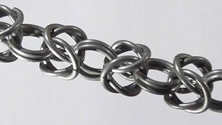 Византийское плетение. Плетение из колец. Как сделать цепочку? Урок 7.